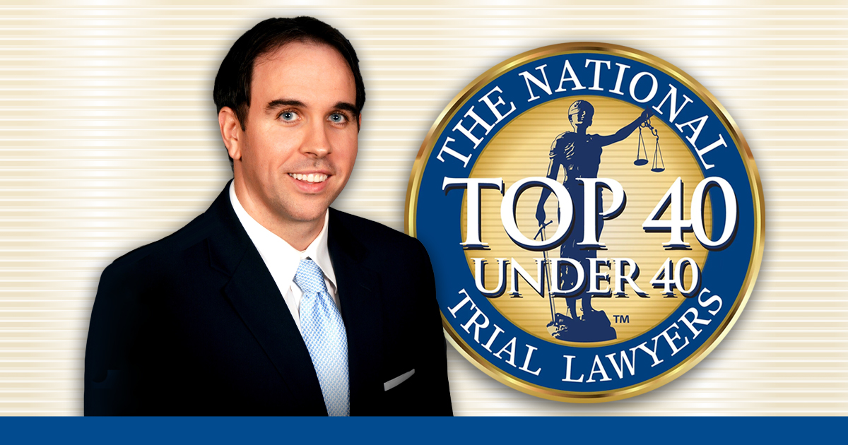 "Attorney T. Jarrett Bouchette chosen as The National Trial Lawyers ""Top 40 under 40"""