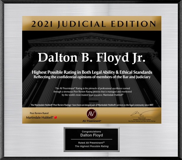 AV Preeminent Lawyers Judicial Edition (2021) - Dalton B. Floyd, Jr.
