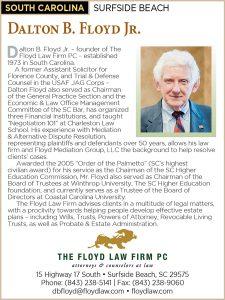 Law Journal - Martindale-Hubbell Preeminent Lawyers Award Dalton Floyd, Jr.
